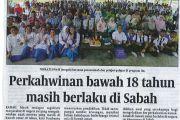 HARIANEKSPRES-Perkahwinan bawah 18 tahun masih berlaku di Sabah